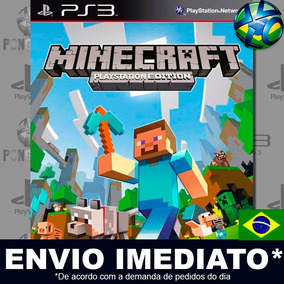 Minecraft Ps3 Edition - Ps3 - Psn - Totalmente Em Português