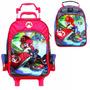Cj Mochila Lancheira Super Mario Bros Com Rodinhas Kart Top