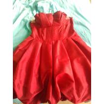 Vestido Strapless Rojo