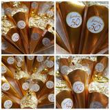 10 Conos De Pochoclos Personalizados (sin Pochoclos)