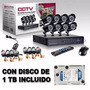 Kit Seguridad 8 Camaras Exterior 700 Tvl + Cable + Disco 1tb