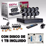 Kit Seguridad 8 Camaras Exterior 700 Tvl + Cable + Disco 1tb