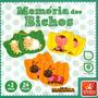 Brinq Pedagógico Madeira Jogo Memória Bichos Animais 24 Pçs