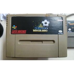 Fita Campeonato Brasileiro Futebol Jogo Snes Super Nintendo
