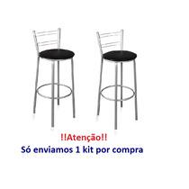 Kit Com 2 Bancos Alto (área Lazer, Balcão, Piscina, Bistro)