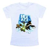 Camiseta Infantil / Criança Desenho A Era Do Gelo