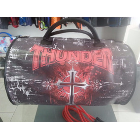 Bolsa Muay Thai Para Equipamentos Thunder Cruz Caveira Preta