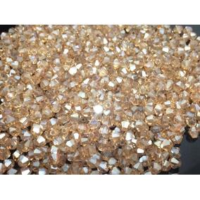 400 Pedras Cristal Swarovski 4mm Champanhe Boreal Creme Nova