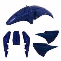 Kit Plastico Carenagem P/ Titan 150 Ano 2005 Azul Perolizado
