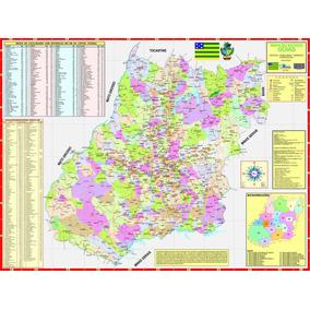 Mapa Do Estado De Goiás -político -117 X 89 Cm -frete 4,90