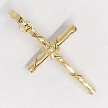 Pingente Crucifixo Masculino Cruz Em Ouro 18k Frete Grátis P