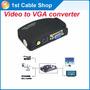 Conversor Rca P/ Vga + S-video Pc Notebook P/ Monitor Vga