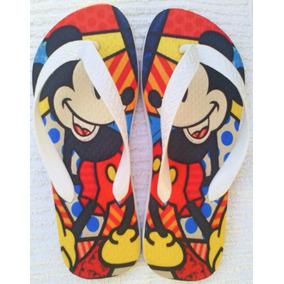 Chinelo Sandália Romero Britto Mickey Mouse