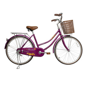 Bicicleta Lahsen City Bike Florentina Aro 24 Burdeo Retro