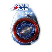 Kit De Cables 10 Ga Gauges K-100 Para Potencias Hasta 1600w