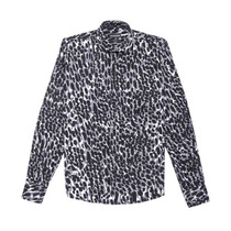 Camisa Estampada Animal Print Negro Zotico / Zorzaldelvaga