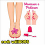 Adesivo Manicure Pedicure Pé Mão Mulher Beleza Unha Will0056