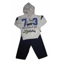 Conjunto Moletom Infantil Masculino Tamanho 6-9 Meses