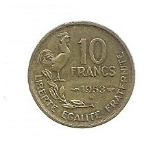 Francia 10 Francos 1953