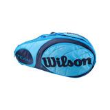 Raqueteira Team Para 3 Raquetes Azul Wilson