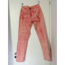 Pantalón Forever 21 Color Ladrillo Semi Elástizado Chupin