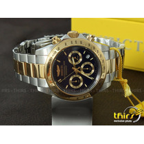 Invicta Speedway 3644 Banhado A Ouro 18k Lindissimo 41 Mm
