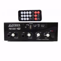 Mixer Automotivo Usb 12v C/ Entrada 2 Microfones E Saida Rca