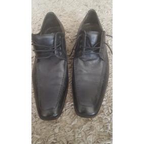 Zapatos Negros De Cuero Natural Y Suela Marca Trial Nuevos!