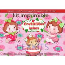 Kit Imprimible Candy Bar Frutillitas Bebes Frutillita Bebe