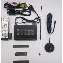 Antena Com Mini Conversor Digital 1080p Fullhd Isdb-t Luckya