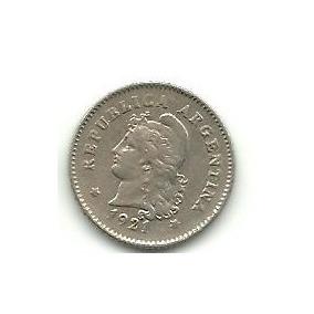 Argentina Moneda De 10c De Cuproniquel Año 1921