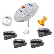 Antena Parabolica Century 4 Receptores Analógico Digital Sd