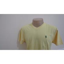 Camiseta Polo By Ralph Lauren Amarela Tamanho P Gola V