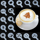 Kit 16 Moldes Stencil Barista Decorar Café Bolo Doce Cupcake