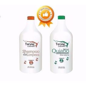 Escova Quiabo 4d Alisa Compativel Qualquer Quimica 2x1000ml