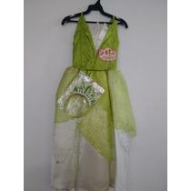 Vestido Princesa Y El Sapo Talla 2,6 Y 8