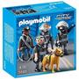 Playmobil 5565 Equipo Policia Unidad Especial Con Perro City