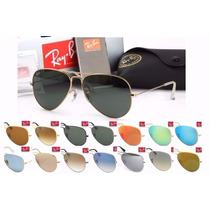 Óculos Atacado Kit 10 Peças Ray Ban Aviador 4 Cores Rb3026