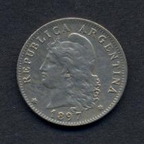 Guardia Imp. 20 Centavos Año 1897 Cuproniquel