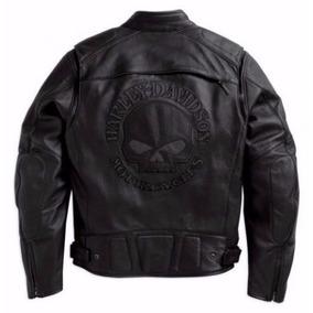 Jaqueta Couro Skull Refletiva - Harley Davidson