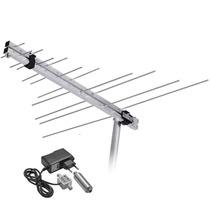 Antena Externa Analógica Lvu11 Booster 26 Db Frete Gratis