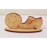 Botin Con Pelota Souvenirs Futbol En Fibrofacil - Sin Pintar