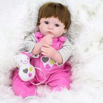 Bebe Reborn Silicone E Corpo Pano Articulado Realista 42 Cm