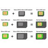Adaptador 3 Em 1 Nano Chip Mini Micro Sim , Suporte Chip