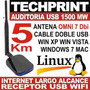 Usb Wifi 1500 Mw 5 Km Auditoria Windows Internet Omni 7 Dbi