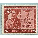 Alemania 1943 : Estampilla De La 2 Guerra Mundial Lbf