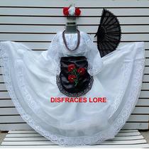 Vestido Tipico De Veracruz Disfraz Traje Jarocha Veracruzana