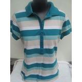 Camisa Polo Feminina Com Bordados Da Alk Classic Tam M