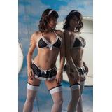 Fantasia Empregada Doméstica Sexy Sensual Completa Com Meia
