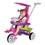 Triciclo Infantil Com Cobertura Proteçao Banco,musical,fit